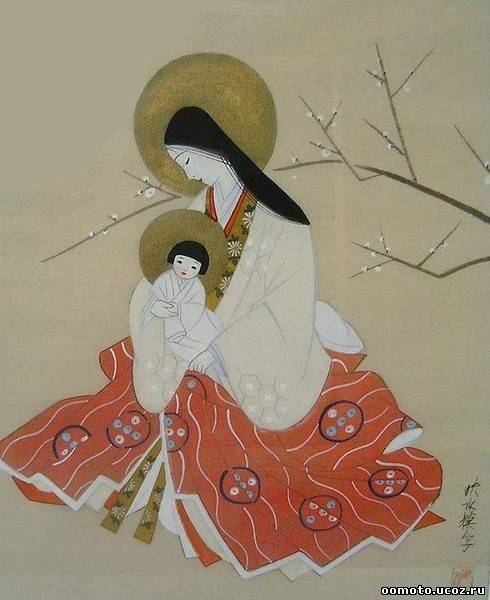 Мадонна с Иисусом по буддистски